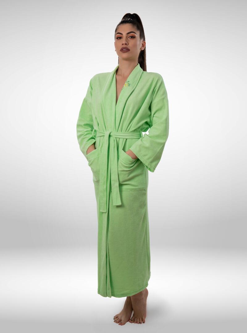 Ženski ogrtač zeleni, ženski bade mantili