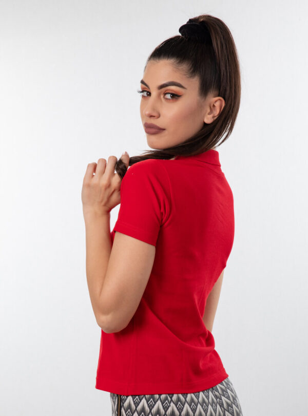 Ženska polo majica kratkog rukava crvena, ženske polo majice